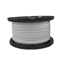 """5/16"""" Polyester Bungee Shock Cord White w/ Black Tracer"""