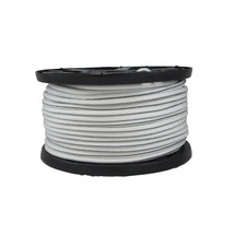 """3/8"""" Polyester Bungee Shock Cord White w/ Black Tracer"""