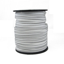 """1/4"""" Polyester Bungee Shock Cord White w/ Black Tracer"""