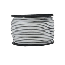 "3/16"" Polyester Bungee Shock Cord White w/ Black Tracer"
