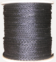 "1/4"" Hollow Braid Polypropylene Rope Black"