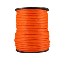 "1/4"" Neobraid Polyester Rope Neon Orange"