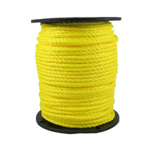"1/4"" Twisted 3 Strand Polypropylene Rope Yellow"