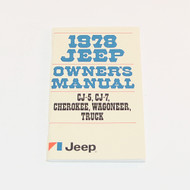 1978 CJ/Cherokee/Wagoneer/Truck Factory Owners Manual