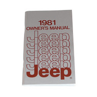 1981 CJ/XJ/Wagoneer/Truck Factory Owners Manual