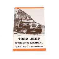 1982 CJ Factory Owners Manual