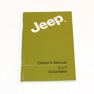 '84-'85 CJ Factory Owners Manual