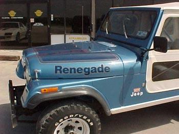 Collins Bros Jeep >> '77-'78 CJ Renegade Decal Kit – CBJeep
