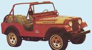 '75-'76 CJ Renegade Decal Kit