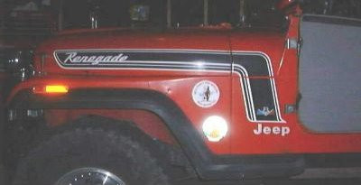 Used Jeep Renegade For Sale >> '74-'75 CJ Renegade Decal Kit – CBJeep