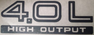 """4.0L High Output"" Rear Decal (Black)"