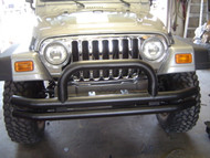 '76-'06 CJ/YJ/TJ Black Front Dual Tube Bumper