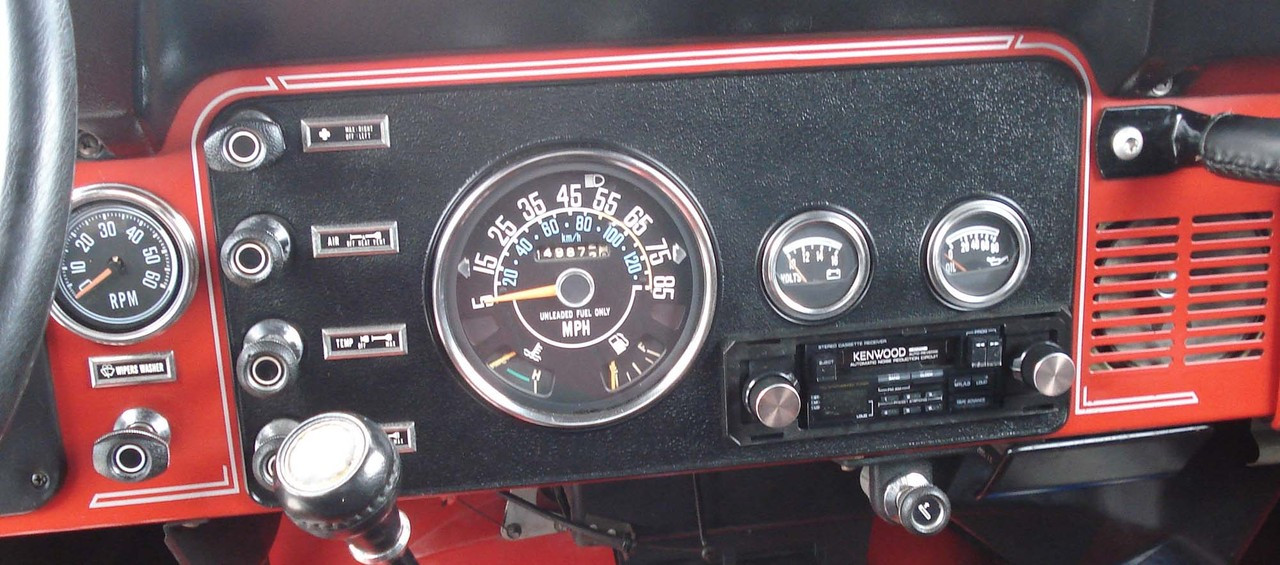 cj7 gauge wiring cj laredo dash surround decal collins bros jeep