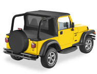 '97-'02 TJ Halftop for Factory Soft Top Hardware (Black Denim)