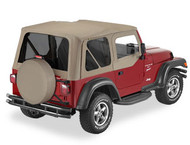 '97-'02 TJ Sailcloth Replace-a-Top w/upper door skins & tinted windows