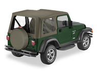 '03-'06 TJ Sailcloth Replace-a-Top w/clear windows w/o upper door skins