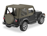 '03-'06 TJ Sailcloth Replace-a-Top w/upper door skins & clear windows