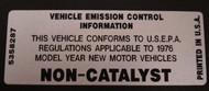 76-79 CJ Non Catalyst Decal