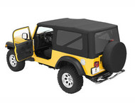 '04-'06 LJ Sailcloth Replace-a-Top w/tinted windows w/o upper door skins