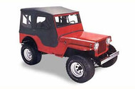 '53-'64 CJ-3B Tigertop w/doors & clear windows