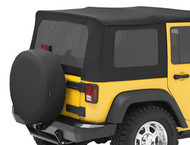 '07-'10 JKU Tinted Window Kit for Sailcloth Replace-a-Top & OEM Soft Top