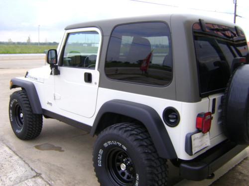39 03 39 06 wrangler tj hardtop khaki collins bros jeep. Black Bedroom Furniture Sets. Home Design Ideas
