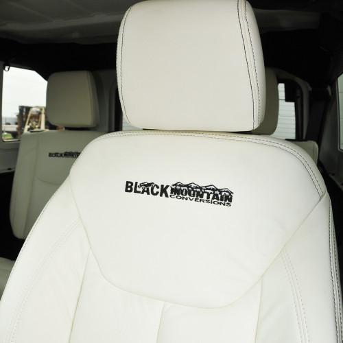 Collins Bros Jeep >> '07-Current White Leather Seat Covers - Collins Bros Jeep