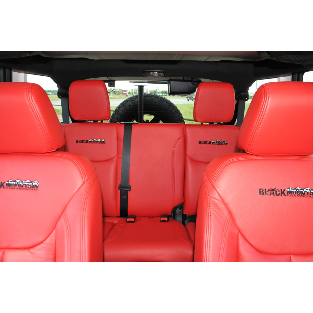 07 Current Red Leather Seat Covers Collins Bros Jeep