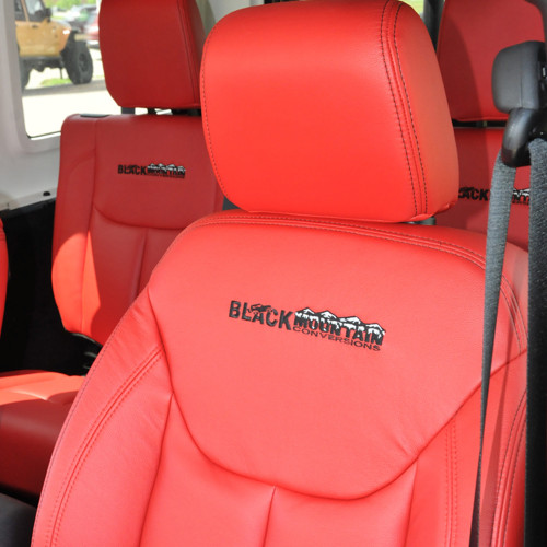 07 Current Red Leather Seat Covers