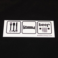 Eat, Sleep, Beer Bumper Sticker