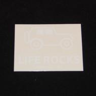 Life Rocks 4x3 White