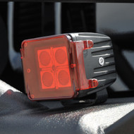 """Red Covers for 3"""" Square LED Lights (pair)"""