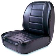 '55-'86 CJ Low Back Front Bucket Seat (Black)