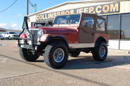 SOLD 1985 Jeep CJ-7 color code 5C Red Metallic Stock#114162