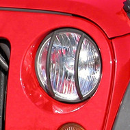 '07-Current JK Black Headlight Euro Guards