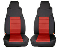 '97-'02 TJ Neoprene Front Seat Covers (Red/Black)