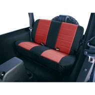 '97-'02 TJ/LJ Neoprene Rear Seat Cover (Red & Black)