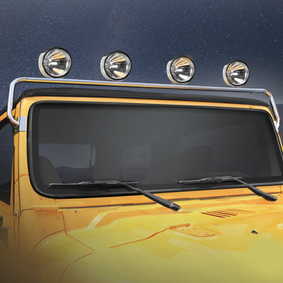76-\'95 CJ/YJ Stainless Windshield Frame Light Bar – CBJeep