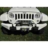 '07-Current JK BLKMTN Front Rock Bumper w/ Winch Mount (Bright White)