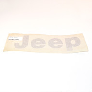 """JEEP"" Tailgate Decal (Black)"