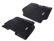 "'76-'95 CJ/YJ ""Jeep"" Logo All Terrain Front Floor Liner Mats"