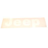 "'76-'86 CJ ""JEEP"" Tailgate Decal (White)"