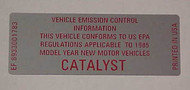 "80-86 CJ ""Catalyst"" Decal"