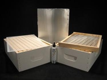 Assembled/Painted 8 frame honey season combo kit