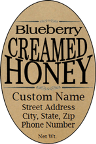 Blueberry Creamed Honey Labels