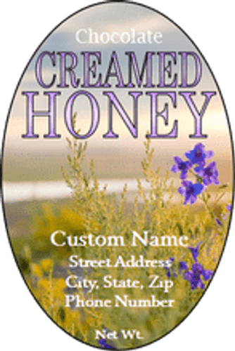 Chocolate Creamed Honey Labels