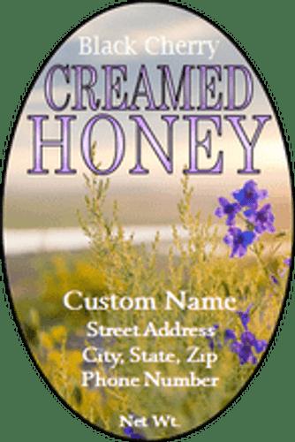 Black Cherry Creamed Honey Labels