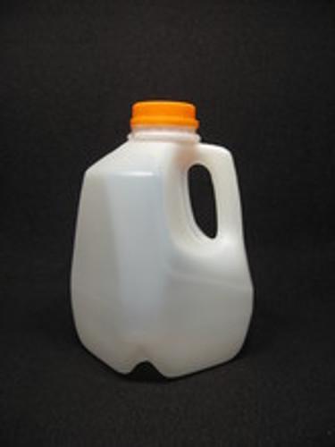 3 lb. Handi Pour Honey Jug - case of 150 with orange ratchet lids