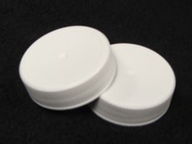 38mm White Screw Top Lids - case of 250