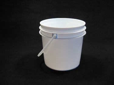1 Gallon White Food Grade Plastic Pail